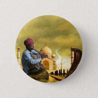 Taj Mahal Runder Button 5,7 Cm