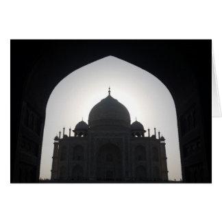 Taj Mahal Silhouette Karte