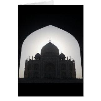 Taj Mahal Silhouetteschwarzes Karte