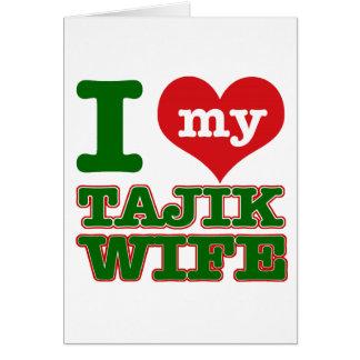 Tajikazstan Ehefrau Karte