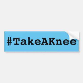 #TakeAKnee, mutiger schwarzer Text auf Himmelblau Autoaufkleber