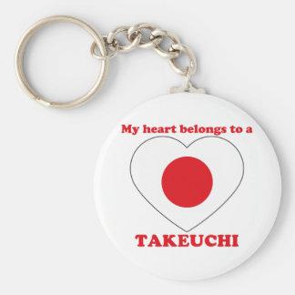 Takeuchi Standard Runder Schlüsselanhänger