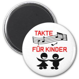 Takte für Kinder Magnet Runder Magnet 5,1 Cm
