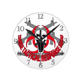 Taktisches Rot des Zombies Uhren