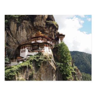Taktsang Kloster (das Nest des Tigers) in Bhutan Postkarten