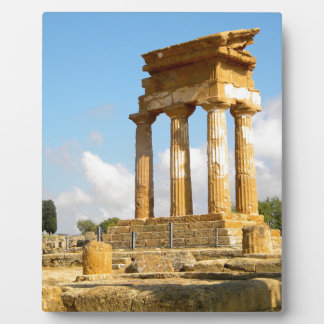 Tal der Tempel Sizilien Fotoplatte