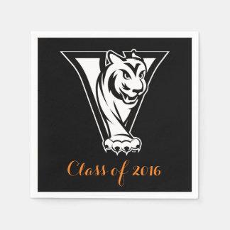 Tal-Highschool Iowa-Tiger-Abschluss Servietten