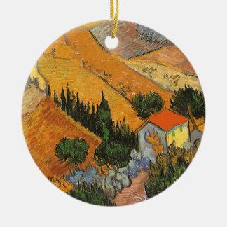 Tal mit Ploughman durch Vincent van Gogh Keramik Ornament
