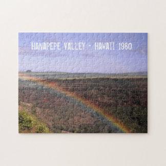 Tal-Regenbogen-Landschaft Hawaiis Hanapepe Puzzle
