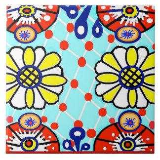 Talavera-Keramik-Fliese - Cinco De Mayo - Blumen - Fliese