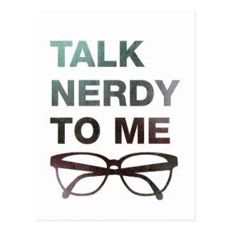 talk nerdy to ich postkarten