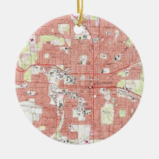 Tallahassee Florida Map (1970) Keramik Ornament