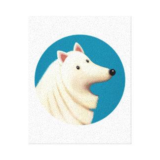 Tallydog Kreis des Freund-Eskimohundes Leinwanddruck