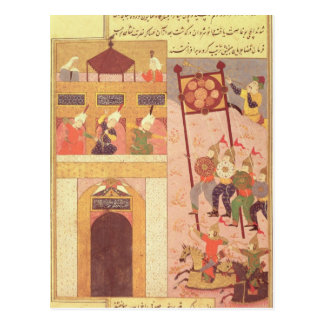 Tamerlane, das Urganj belagert Postkarte