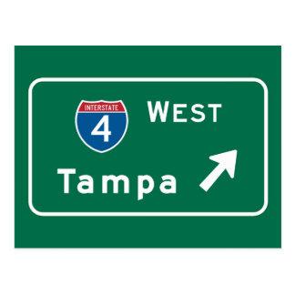 Tampa, FL-Verkehrsschild Postkarten