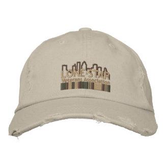 TAN beunruhigte Logo-Hut Besticktes Cap