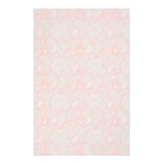 TAN Blumenpaisley auf Pfirsich Personalisiertes Büropapier
