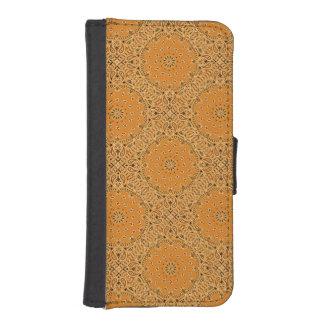 TAN Brown Paisley Bandana iPhone SE/5/5s Geldbeutel