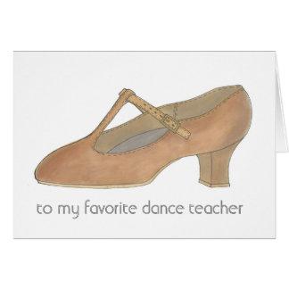 TAN-Charakter-Schuh-Lieblingstanz-Lehrer Karte