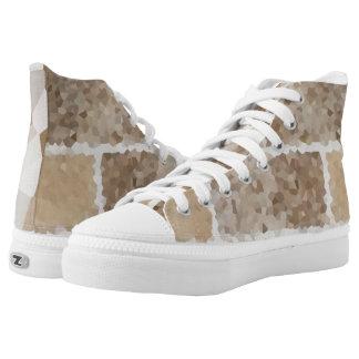 TAN geometrisch Hoch-geschnittene Sneaker
