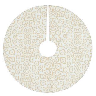 TAN-Gepard-Tierkatzen-Druck Polyester Weihnachtsbaumdecke