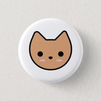 TAN-Kätzchen-Knopf Runder Button 3,2 Cm