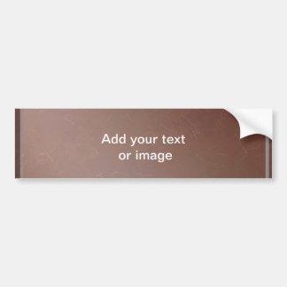 TAN-Leder-Ende - eleganter Blick-Papierhandwerk Autoaufkleber
