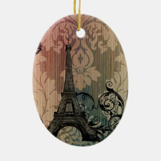 tan Mokkadamast romantischer Paris-Eiffelturm Keramik Ornament