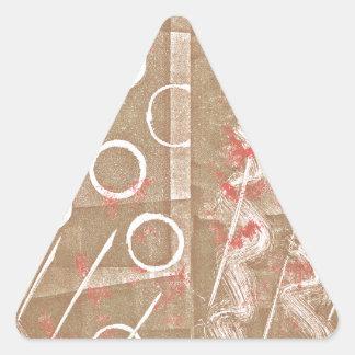 TAN-Rost-weißes abstraktes Dreieckiger Aufkleber