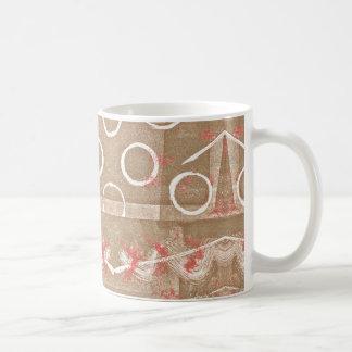TAN-Rost-weißes abstraktes Kaffeetasse