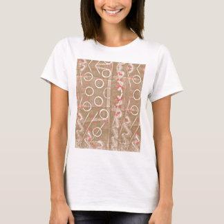 TAN-Rost-weißes abstraktes T-Shirt