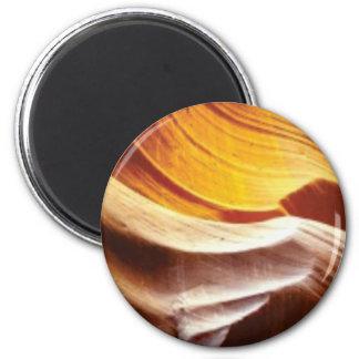tan Sonnefelsen der Orange Runder Magnet 5,7 Cm