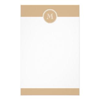 TAN-Spitzen mit Monogramm gefärbt Personalisierte Druckpapiere