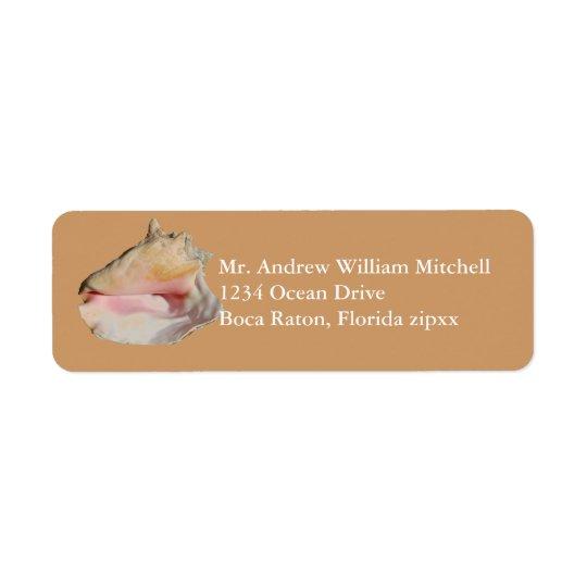 TAN-Tritonshorn-Muschel Rücksende Aufkleber