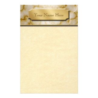 TAN und weißer Marmor Personalisiertes Büropapier
