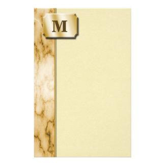 TAN und weißer Marmor Bedrucktes Büropapier