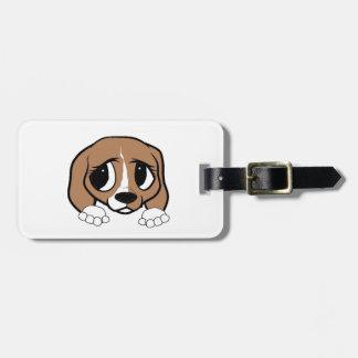 tan weißes Spähen des Beagles Kofferanhänger
