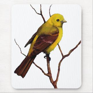Tanager: Vogel: Öl-Pastell: Freihändige Tier-Kunst Mauspads