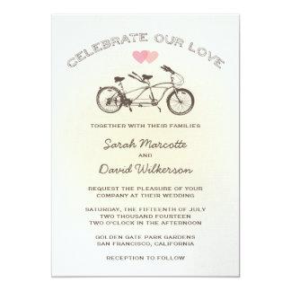Tandemfahrrad-Hochzeits-Einladung