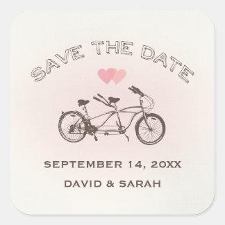 Tandemfahrrad-Save the Date Aufkleber