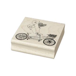 TandemLiebefahrrad-Briefmarke Gummistempel