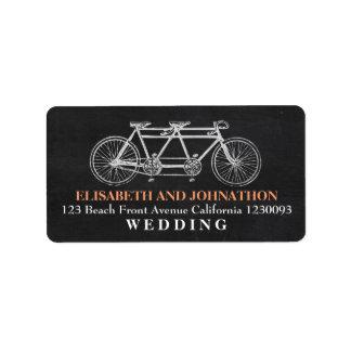 Tandemtafel-Hochzeit Adress Aufkleber