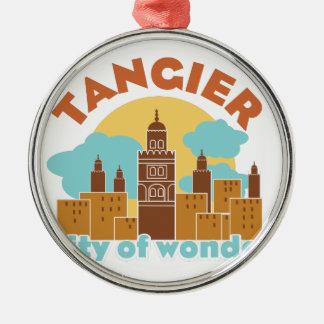 Tanger-Stadt des Wunders Rundes Silberfarbenes Ornament