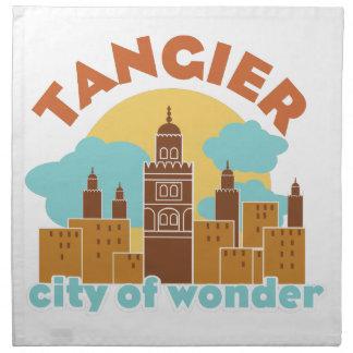 Tanger-Stadt des Wunders Serviette