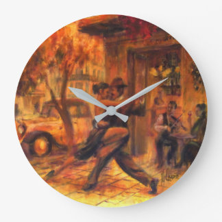 Tango in Buenos Aires Große Wanduhr