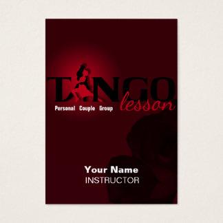 Tango-Lektion - Geschäft, Zeitplan, Visitenkarte