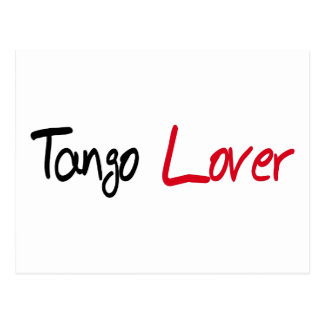 Tango-Liebhaber-Produkte! Postkarte