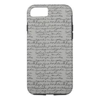 Tango-Skript-Telefon-Kasten iPhone 8/7 Hülle