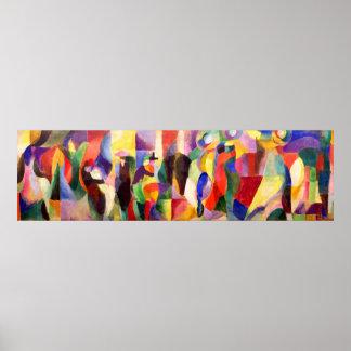 TangoBal Bullier - abstrakte Kunst durch Sonia Del Poster