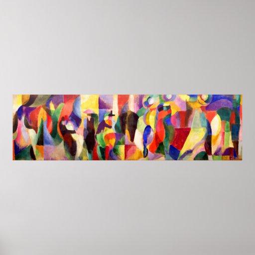 TangoBal Bullier - abstrakte Kunst durch Sonia Del Plakat
